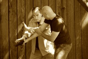 Working on handgun defense with my good friend Rich Borgatti, Jr. of Mountain Strength CrossFit