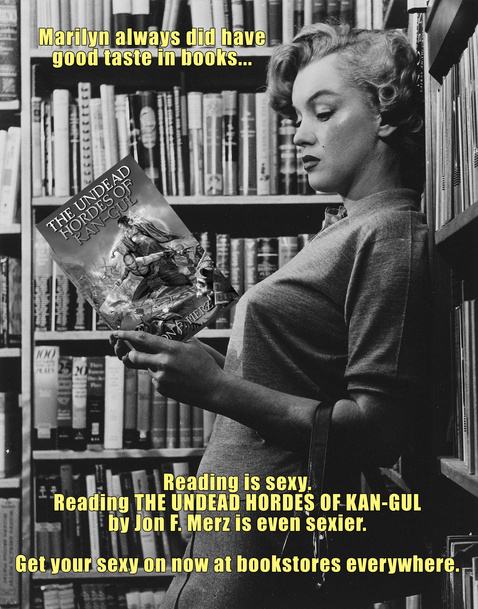 promotional meme for the undead hordes of kan-gul by jon f. merz