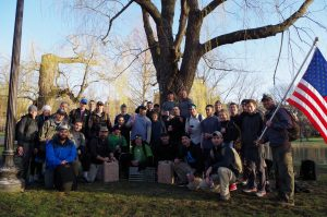 Group shot of Class 973 Boston after completing our GORUCK Challenge. There's no way to describe how amazing it feels afterward! (picture credit: Khoa Nguyen)